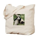 Mom & Baby Giant Pandas Tote Bag