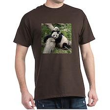 Mom & Baby Giant Pandas Dark T-Shirt
