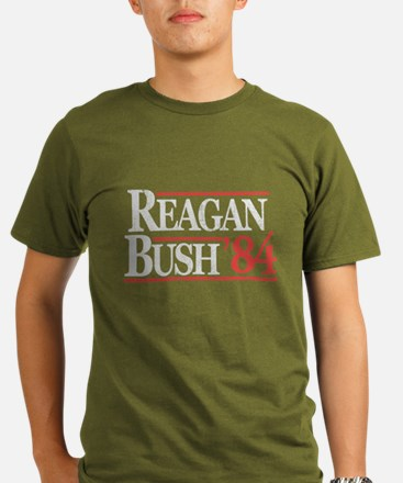 Reagan Bush '84 Organic Men's T-Shirt (dark)