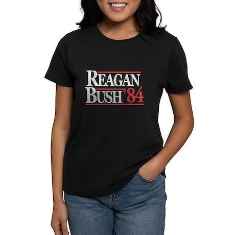 Reagan Bush '84 Women's Dark T-Shirt