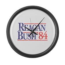 Reagan Bush '84 Large Wall Clock