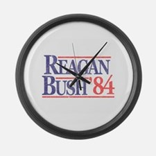Reagan Bush '84 Large Wall Clock