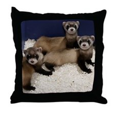 Black-footed Ferrets Throw Pillow