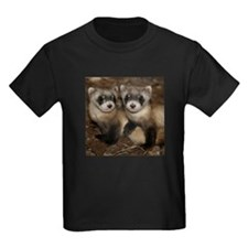 Black-footed Ferrets Kids Dark T-Shirt