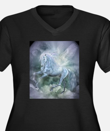 Unique Fantasy science fiction Women's Plus Size V-Neck Dark T-Shirt