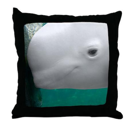 Beluga Watching Throw Pillow