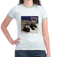 Black-footed Ferrets Jr. Ringer T-Shirt