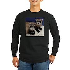 Black-footed Ferrets Long Sleeve Dark T-Shirt