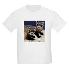 Black-footed Ferrets Kids Light T-Shirt