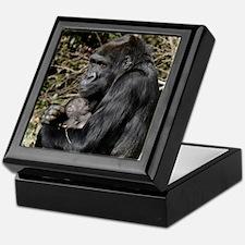 Mom and Baby Gorilla Keepsake Box