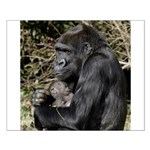 Mom and Baby Gorilla Small Poster