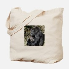 Mom and Baby Gorilla Tote Bag