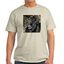 Mom and Baby Gorilla Light T-Shirt