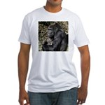 Mom and Baby Gorilla Fitted T-Shirt