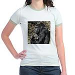 Mom and Baby Gorilla Jr. Ringer T-Shirt