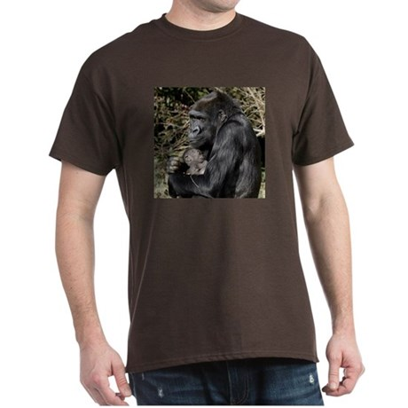 Mom and Baby Gorilla Dark T-Shirt