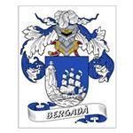 Bergadà Coat of Arms Small Poster
