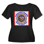 Arizona-5 Women's Plus Size Scoop Neck Dark T-Shir