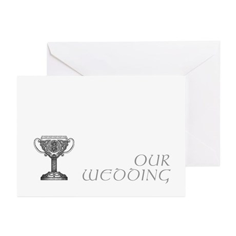 Celtic Wedding (all grey) Greeting Cards (Pk of 10