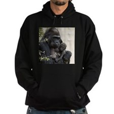 Mom and Baby Gorilla Hoodie (dark)