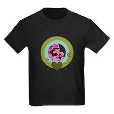Mom and Baby Gorilla Kids Dark T-Shirt