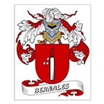 Bernales Coat of Arms Small Poster