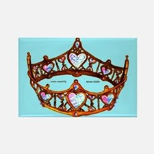 Queen of Hearts Gold Crown Tiara Aqua Blue backgro