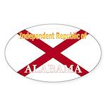 Alabama-4 Oval Sticker (10 pk)
