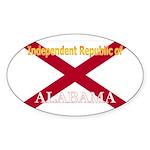 Alabama-4 Oval Sticker
