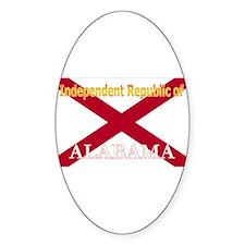 Alabama-4 Oval Decal