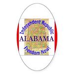 Alabama-3 Oval Sticker (10 pk)