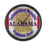 Alabama-3 Large Wall Clock