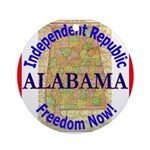 Alabama-3 Ornament (Round)
