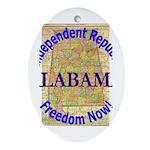 Alabama-3 Oval Ornament