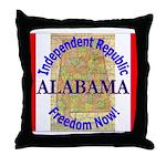 Alabama-3 Throw Pillow