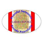 Alabama-1 Sticker (Oval 10 pk)