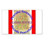 Alabama-1 Sticker (Rectangle 50 pk)