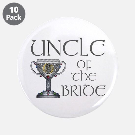 """Celtic Uncle of Bride 3.5"""" Button (10 pack)"""