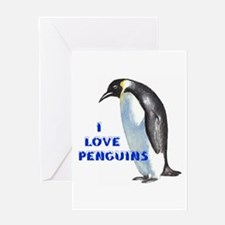 WHALES LOVE PENGUINS Greeting Card