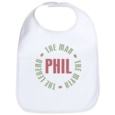 Phil the Man Myth Legend Bib