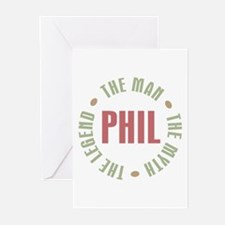 Phil the Man Myth Legend Greeting Cards (Pk of 10)