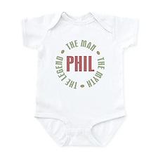 Phil the Man Myth Legend Infant Bodysuit