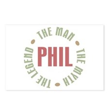 Phil the Man Myth Legend Postcards (Package of 8)