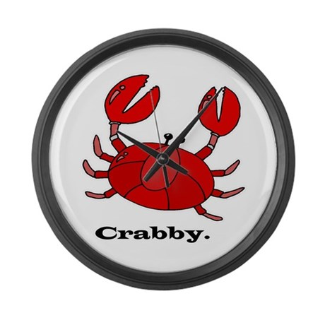 Crabby Large Wall Clock