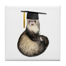 Ferret Graduation Tile Coaster