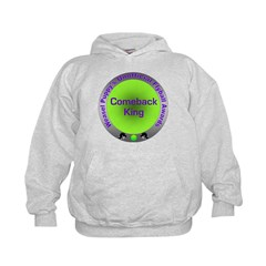 Comeback King Flyball Award Kids Hoodie