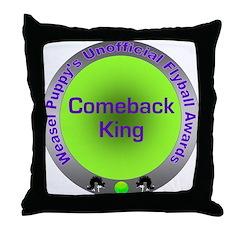 Comeback King Flyball Award Throw Pillow