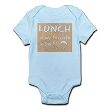 Lunch is My Favorite Subject Infant Bodysuit
