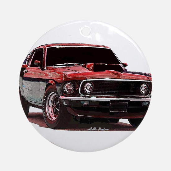 Mustang 1969 Ornament (Round)