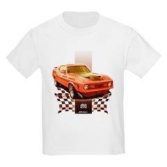 Mustang 1971 1972 Kids Light T-Shirt